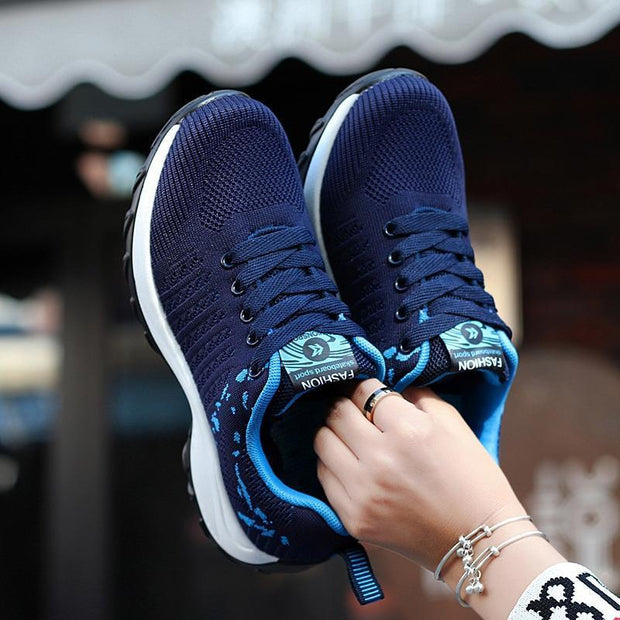 Women's fashion casual wild sports shoes flying woven shoes wear 119507