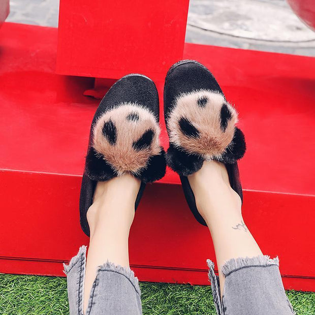 Female fur cotton shoes light and soft comfortable cute pretty wild 118515