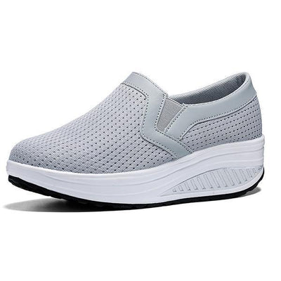 Women Wedge Shoes Breathable Mesh Sneakers Slip On Comfort Walking Shoes(Buy 2 Get $6 Off By Code:  BUY2)