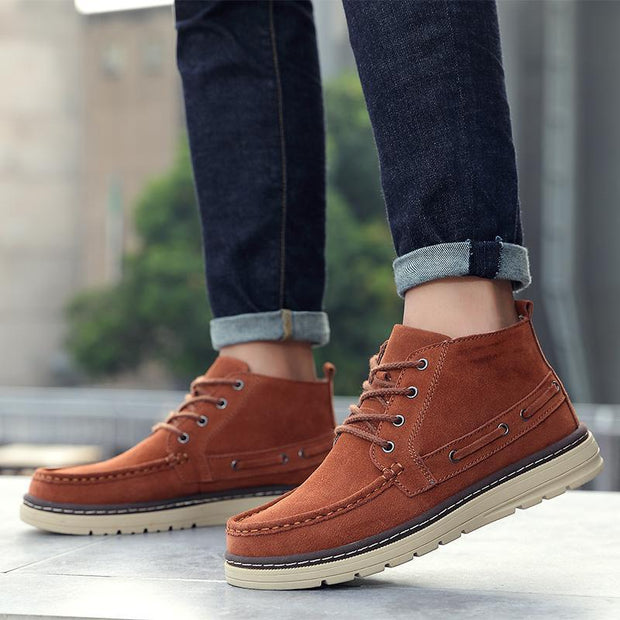 Men's shoes youth trend comfortable non-slip high help shoes 120409