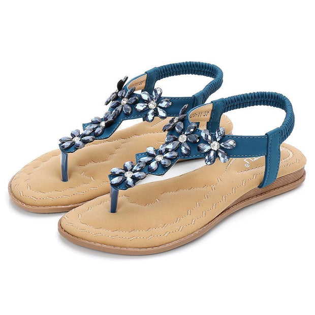 Women's Bohemian Sandals Flats Beach Shoes