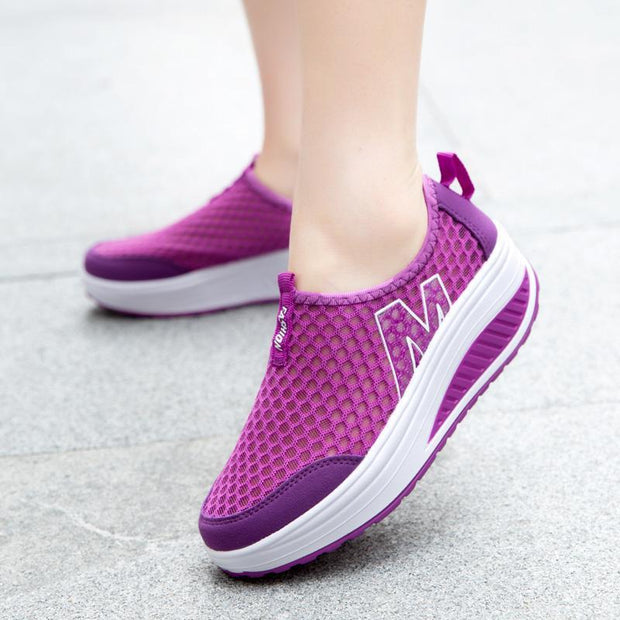 Women's Shoes  New Rocking Shoes Breathable  Casual Sports Platform Shoes Mesh Shoes 119677