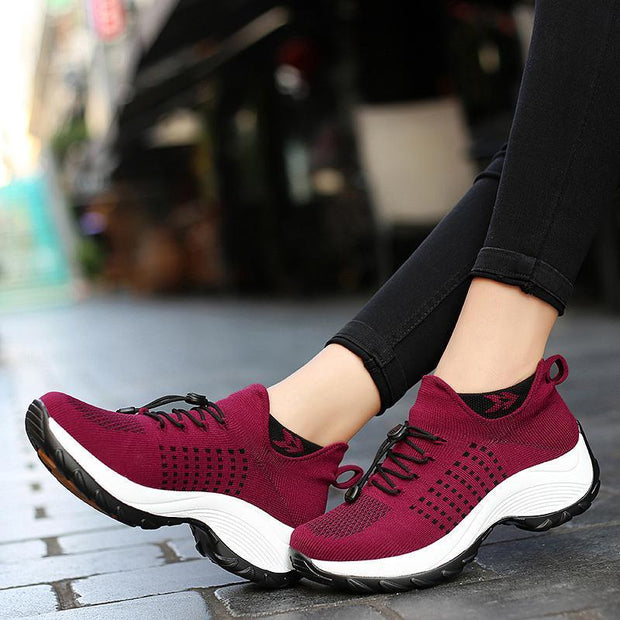 Women's Comfortable Flying Woven Casual Shoes 120486