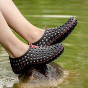 Women's Sandals Wading Breathable Outdoor Mesh Beach Shoes Lovers Hole Shoes
