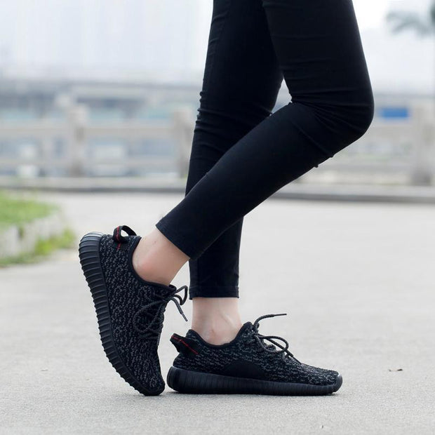 Women Light mesh mesh sports shoes flying woven running shoes breathable 120448
