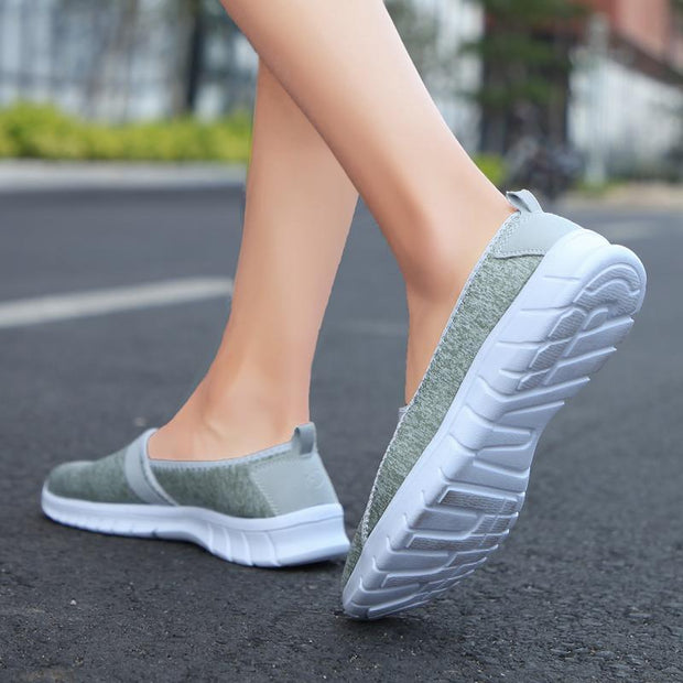 Women Shallow mouth soft bottom one foot middle-aged walking shoes shoes mother shoes 120821