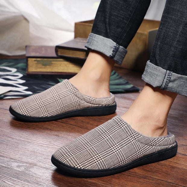 Women Winter tow warm fashion casual convenience plus velvet cotton slippers