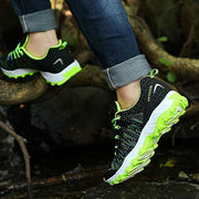 Men's Woven Knit Outdoor Hiking Shoes