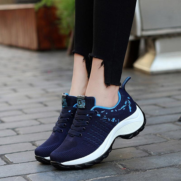 Women's Breathable  Flying Woven Knitting Sneaker