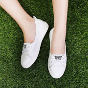 Women's New flat bottom lace-up shoes casual breathable 121537