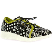 122471 LAURA VITA DELPHINE 11  CHIC Genuine Leather Handmade PAINTED ORIGINAL SPORTS SHOES LACE UP