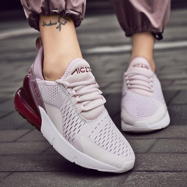 Fashion Women's Air Cushion Shockproof Sports Shoes Comfortable Lightweight Lovers Casual Shoes