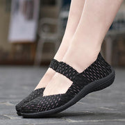 Women's Woven shoes hollowed out casual breathable comfort outdoor