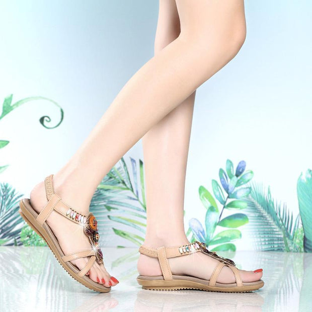 Women's Delicate Leather Soft Sandals 122250