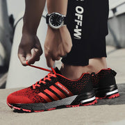 Men's Breathable Lightweight Sports Shoes Non-Slip Shock Absorber Lovers Running Shoes