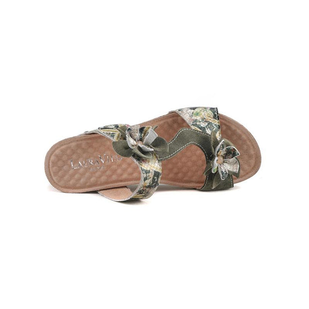 120044 LAURA VITA BINGO 05 Retro Genuine Leather Handmade PAINTED VELCRO Original Comfortable SANDAL