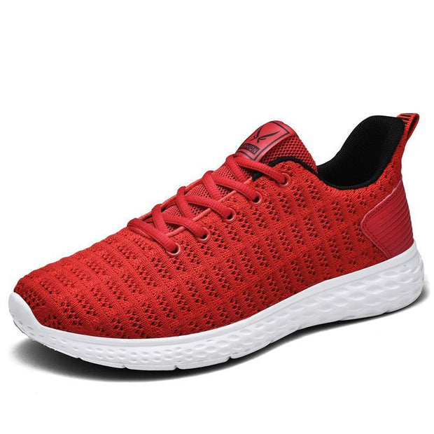 Women Spring Summer New Flying Woven Breathable Sports Shoes