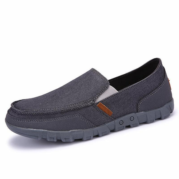 Men's fashion casual breathable canvas shoes are light and comfortable