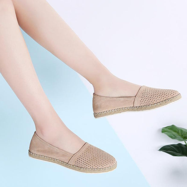 Women Summer Suede Openwork Shoes