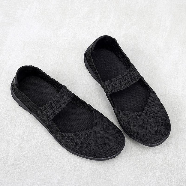 Women's Breathable Hand-Woven Shoes Hollow Leisure Comfortable