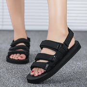 Women's Lightweight Comfortable Sandals Wear Resistant Non-Slip Flat Shoes Lovers Slippers