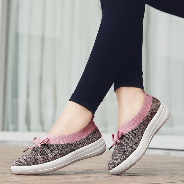 Breathable Mesh Soft Sole Flat Casual Shoes