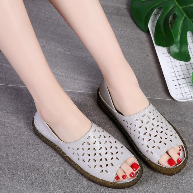 Women's Hollow Slip-on Sandals Slippers