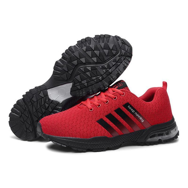 Cool Marathon Air Cushion Men's Running Shoes Flying Woven Casual Couple Sneakers  122981