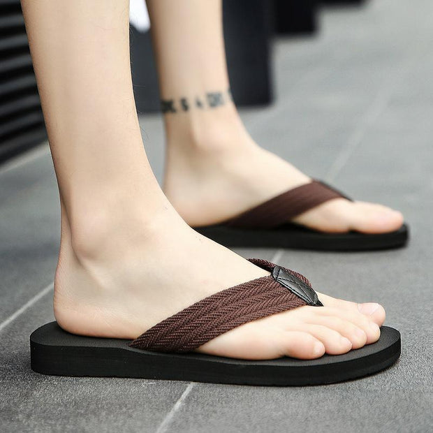 Men's Slippers Fashion Beach Shoes Anti-slip Sandals Casual Wear Flats 123422