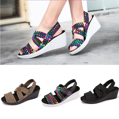 Fashion Hand Made Women's Woven Shoes High Heels of Comfortable Shoes Sandals Casual Sport Shoes  123519