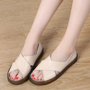 Women's sandals and slippers casual shoes set feet retro two sandals 123770