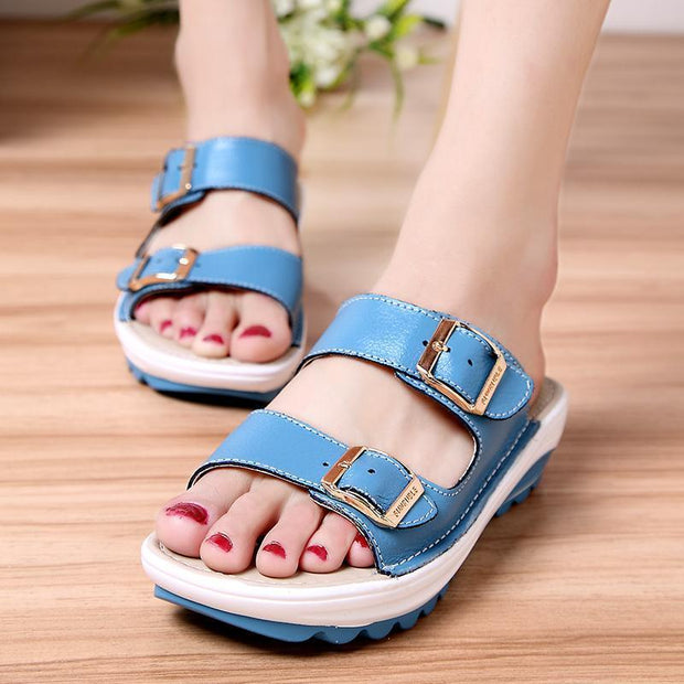 Women's fashion casual wedge with soft bottom non-slip slippers 123816