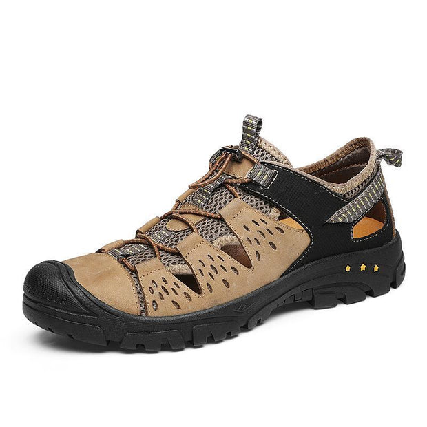 Men's casual trend outdoor mountaineering hollow sandals 125450