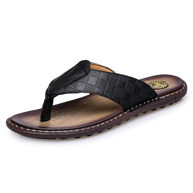 Men's casual trend sewing thread flat with breathable slippers 126119