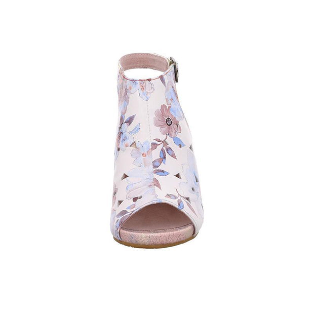 LAURA VITA Becrnieo 209 Retro CHIC Genuine Leather Handmade PAINTED VELCRO LASER SANDAL 123784