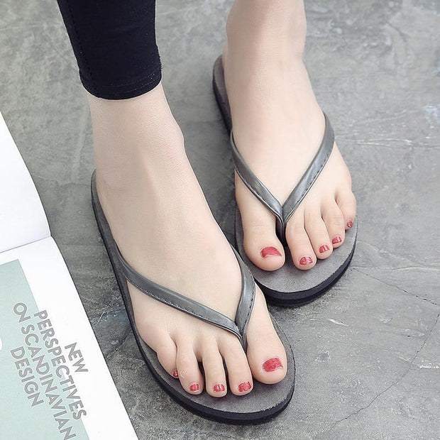 Woman Classic Flip Flops Summer Light Weight Shower Sandals Acupressure TPR Non-Slip Slippers 124066