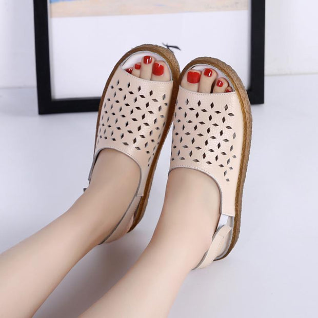 Women's fashion casual trend hollow flat sandals 124028