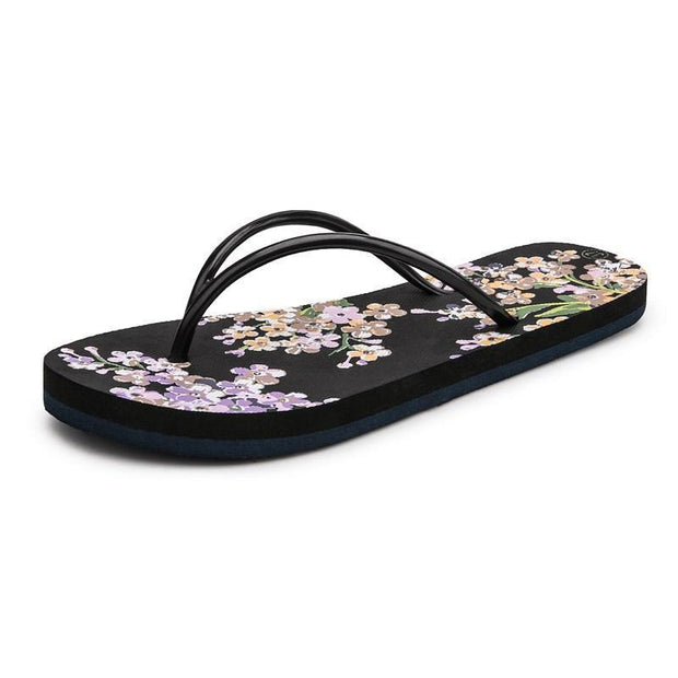 Women's fashion classic floral trend flat slippers 124063