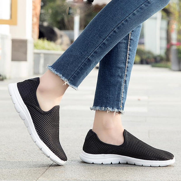 Women's New Light Weight Go Easy Mesh Walking Shoes Casual Athletic Comfortable Running Sneakers 124804