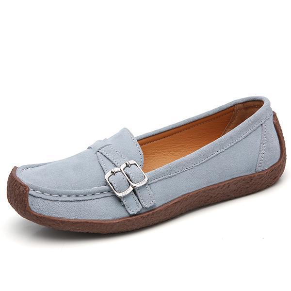 Women's casual and comfortable suede loafers driving shoes flat shoes 127198