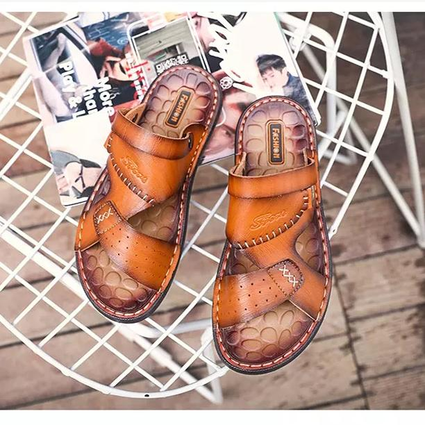 Casual Summer Men's Sandals Round Head Soft Rubber Suitable Shoes for Male Shoes 127245