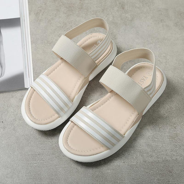 Comfortable Women's Sandals Casual Skinny Feet Soft Platform Women's Shoes 124924