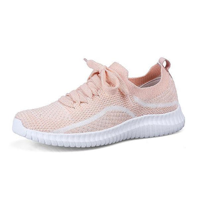 Women's summer flying woven mesh breathable lightweight sneakers 125026