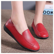 Casual Flat Shoes Driving Shoes Office Moccasins Leather Peas Shoes Large Size Women's Boat Shoes 126930
