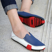Men Leather Shoes Loafers Summer Moccasins Casual Driving Shoes Big Size 38-47 124134