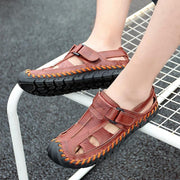 Men's casual fashion outdoor hollow flat  non-slip sandals 124989