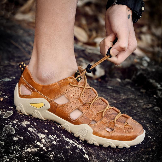 Men's casual shoes trend outdoor hollow breathable wear 125824