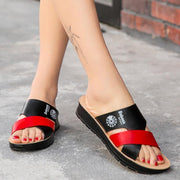 Women's casual trend non-slip lightweight rubber flat slippers 126287