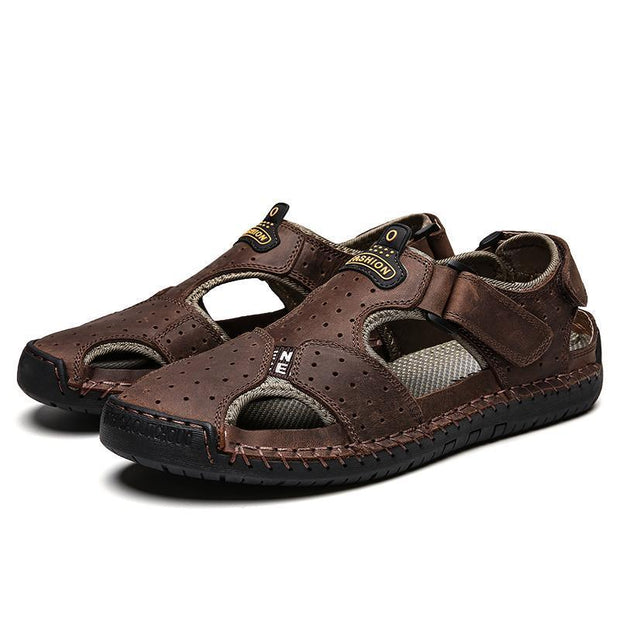 Men's casual trend flat with sports breathable sandals 126923