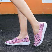 Women's comfortable fashion woven shoes 126070